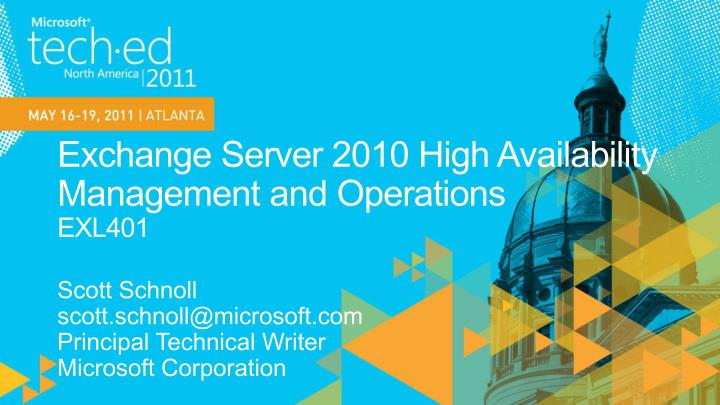 exchange server 2010 high availability management and operations exl401 n.