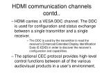 hdmi communication channels contd