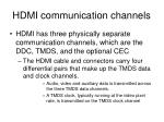 hdmi communication channels