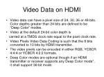 video data on hdmi