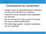conclusions for customers