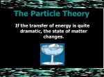 the particle theory11