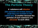 the particle theory14