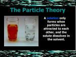 the particle theory19