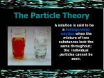 the particle theory20