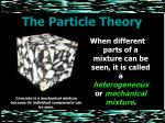 the particle theory21