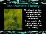 the particle theory24