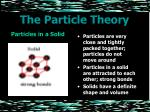 the particle theory4