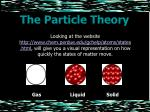 the particle theory8