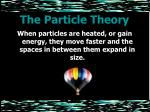 the particle theory9