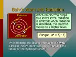 bohr s atom and radiation
