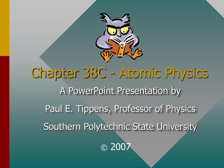 chapter 38c atomic physics n.