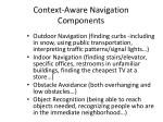 context aware navigation components