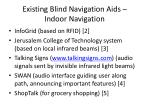 existing blind navigation aids indoor navigation