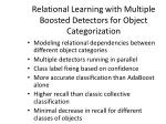 relational learning with multiple boosted detectors for object categorization