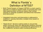 what is florida s definition of mtss