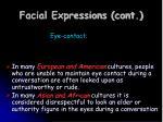 facial expressions cont