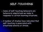self touching
