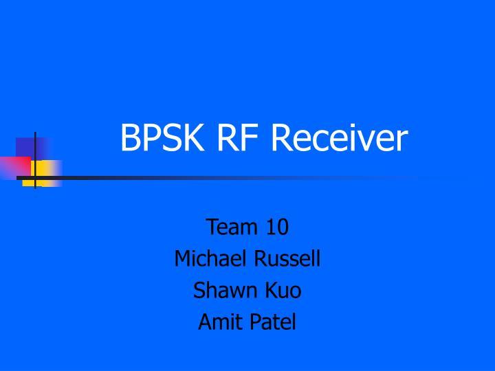bpsk rf receiver n.