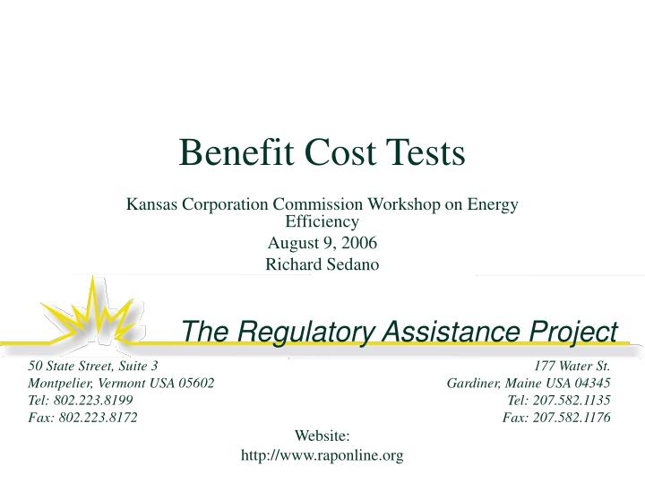 benefit cost tests n.
