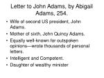 letter to john adams by abigail adams 254