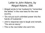 letter to john adams by abigail adams 258