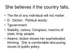 she believes if the country falls