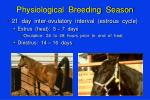 physiological breeding season