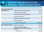 economic development energy efficiency water flood protection