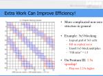 extra work can improve efficiency