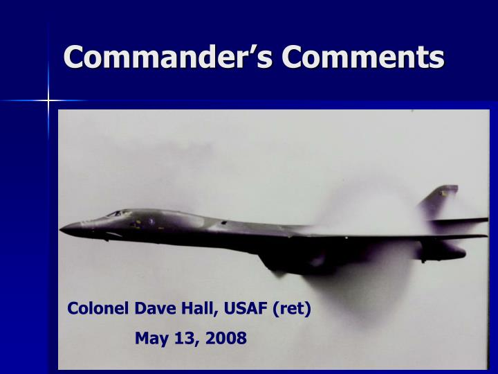 commander s comments n.