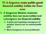 iv a forgotten major public good financial stability within the euro zone