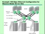 example 100 gbps ethernet configuration for massive blade server site