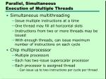 parallel simultaneous execution of multiple threads