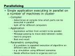 parallelizing