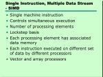 single instruction multiple data stream simd