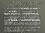 decreto regulador n 49974 a 61 c digo nacional da sa de