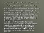 decreto regulador n 49974 a 61 c digo nacional da sa de2