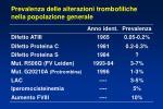 prevalenza delle alterazioni trombofiliche nella popolazione generale