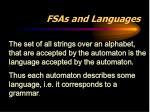 fsas and languages