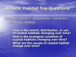 aquatic habitat top questions