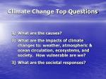 climate change top questions