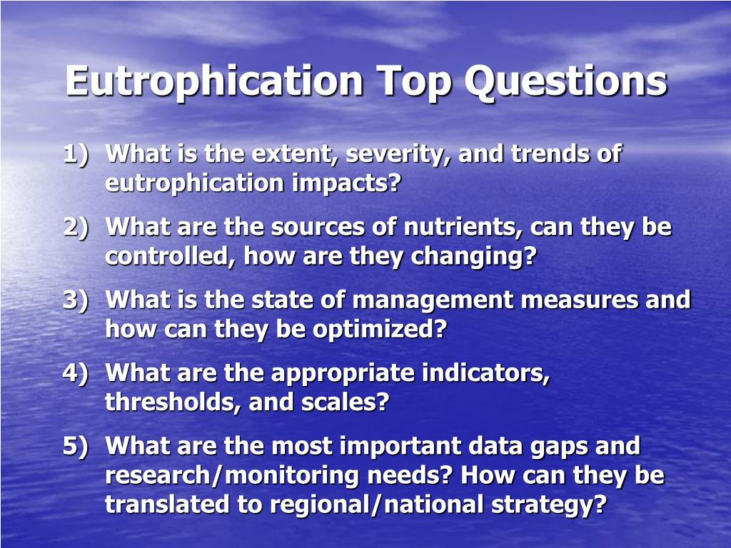 Eutrophication Top Questions