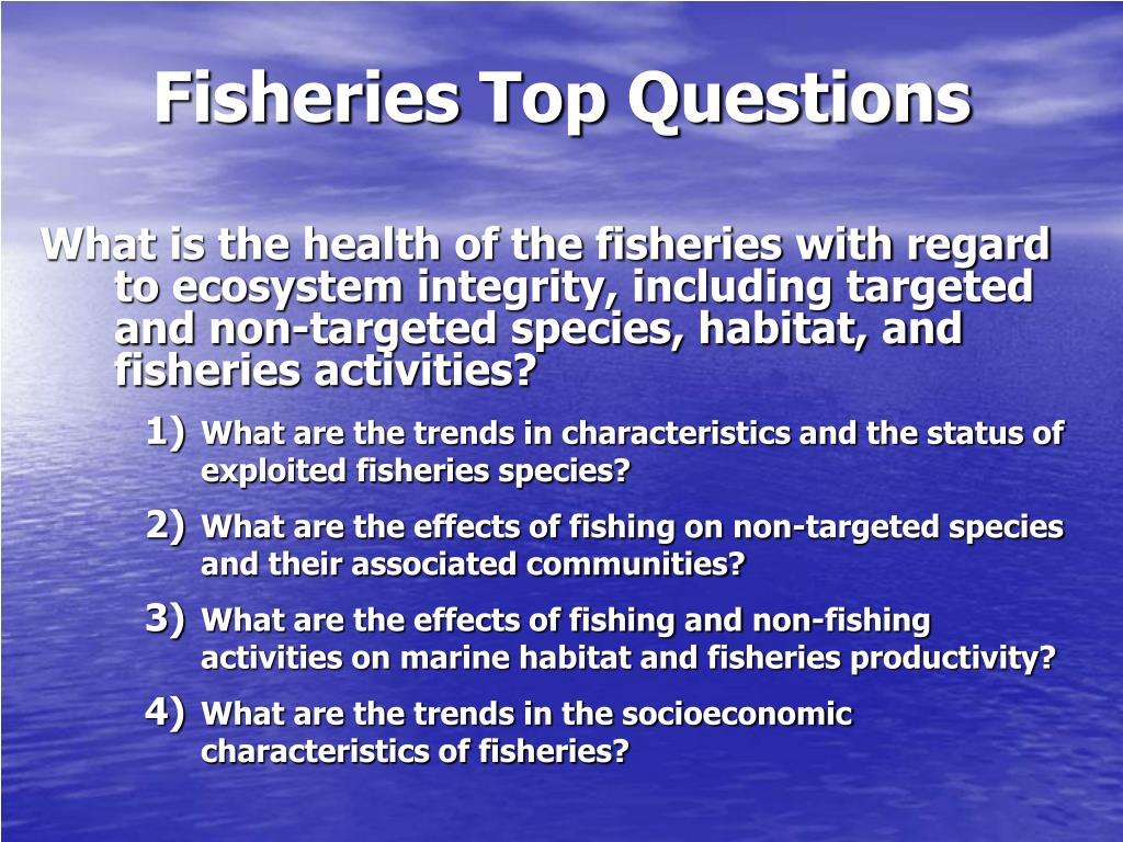 Fisheries Top Questions