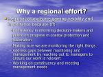 why a regional effort