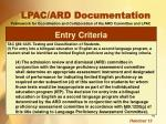 lpac ard documentation