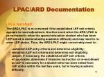 lpac ard documentation4