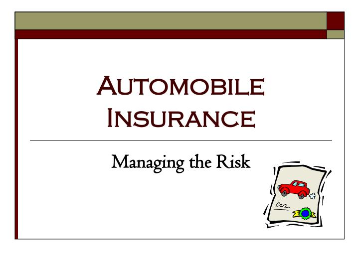 automobile insurance n.