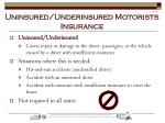 uninsured underinsured motorists insurance