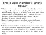 financial statement linkages for berkshire hathaway